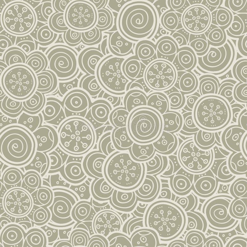 Bloemen naadloos patroon Vector illustratie Achtergrond Bloemenvormen De eindeloze textuur kan voor druk op stof worden gebruikt  royalty-vrije illustratie