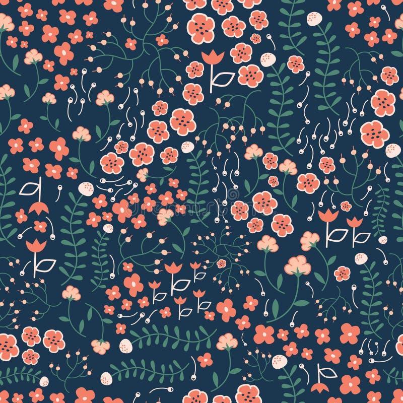 Bloemen naadloos patroon voor stof vector illustratie