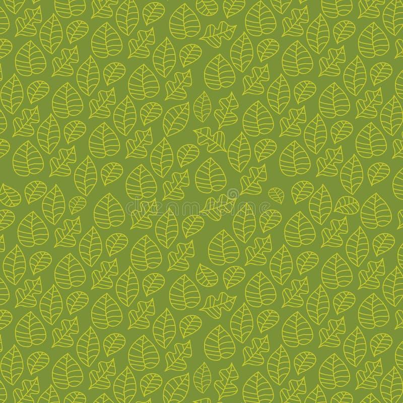 Bloemen (naadloos) wijnstokpatroon op groene achtergrond stock illustratie