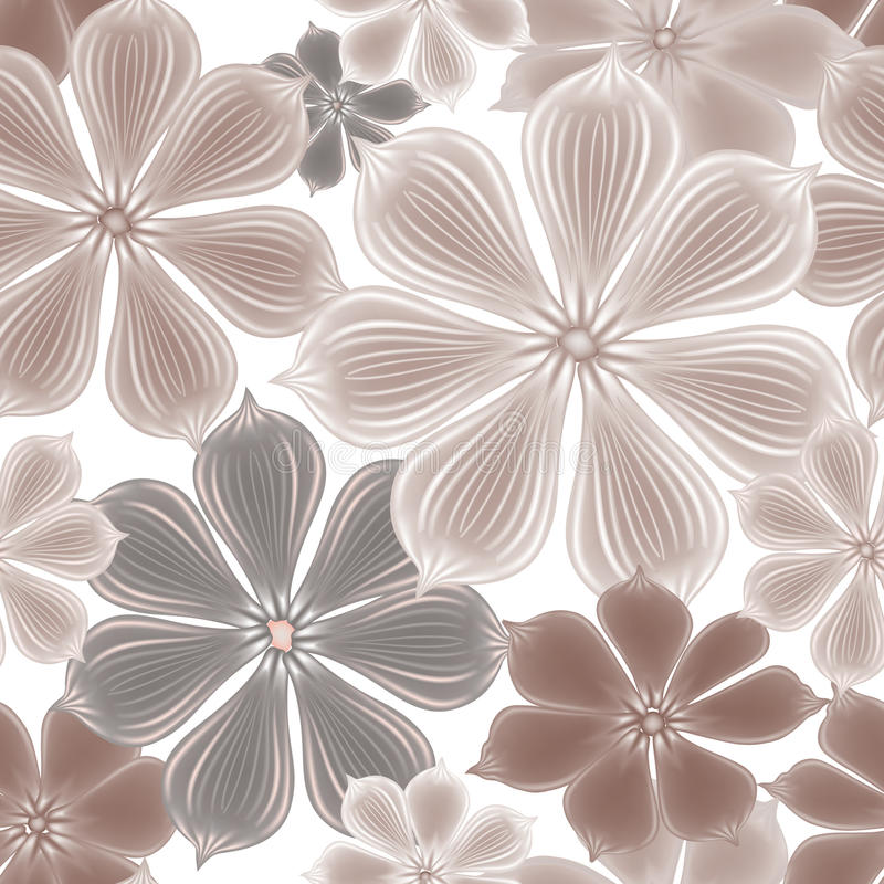 Bloemen naadloze achtergrond Het patroon van de bloem royalty-vrije illustratie