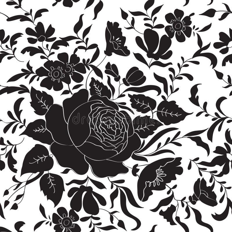 Bloemen naadloze achtergrond Het patroon van de bloem vector illustratie