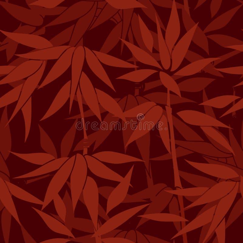 Bloemen naadloze achtergrond Het patroon van het bamboeblad Bloemen naadloos royalty-vrije illustratie
