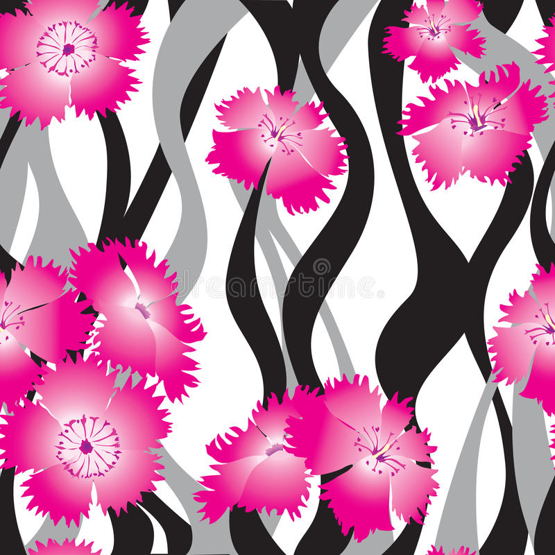 Bloemen naadloze achtergrond. het zachte patroon van bloemrozen. royalty-vrije illustratie