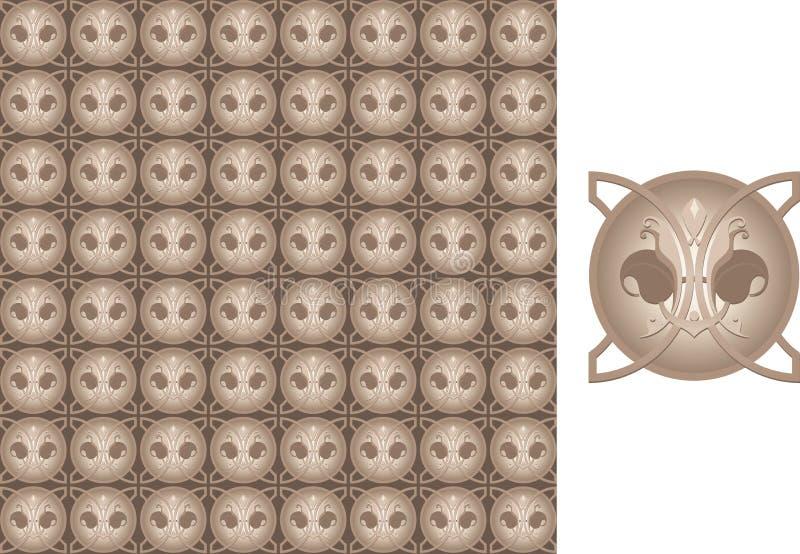 Bloemen naadloze behang-afscheiding royalty-vrije illustratie