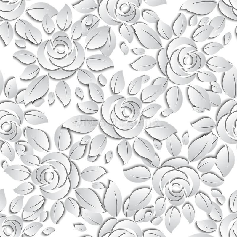 Bloemen naadloze patroonachtergrond stock illustratie