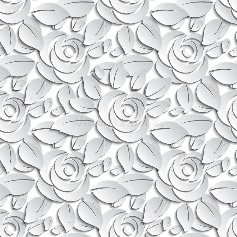 Bloemen naadloze patroonachtergrond vector illustratie