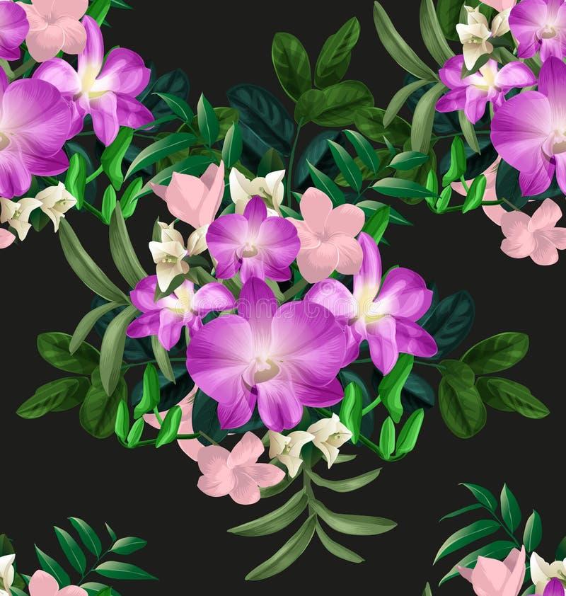 Bloemen naadloze pattern3 royalty-vrije illustratie