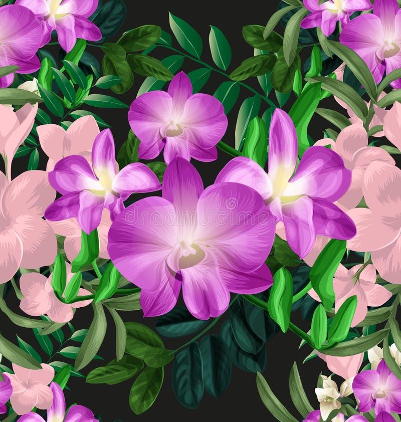 Bloemen naadloze pattern5 royalty-vrije illustratie