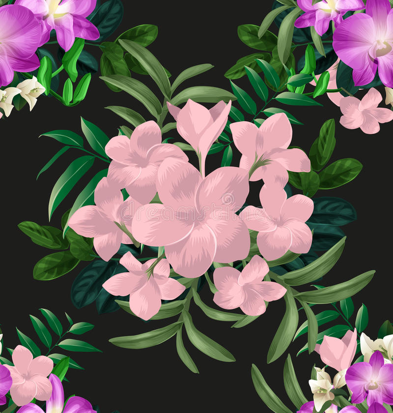 Bloemen naadloze pattern4 stock illustratie