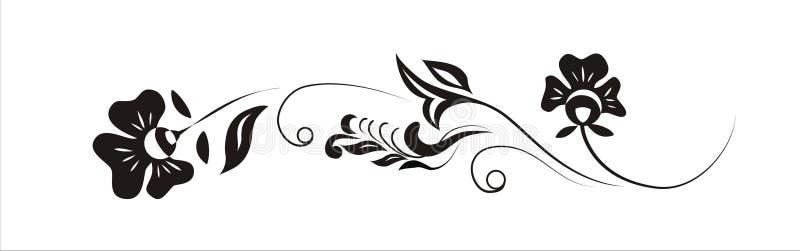 Bloemen ontwerp in de band. vector illustratie