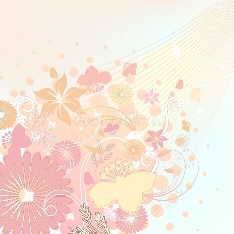 Bloemen ontwerp zachte kleuren royalty-vrije illustratie