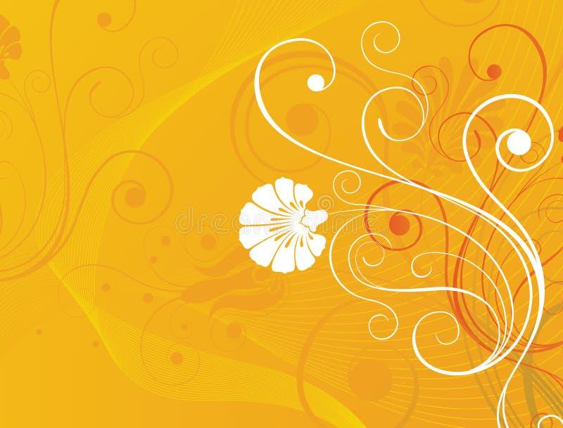 Bloemen ontwerpachtergrond vector illustratie