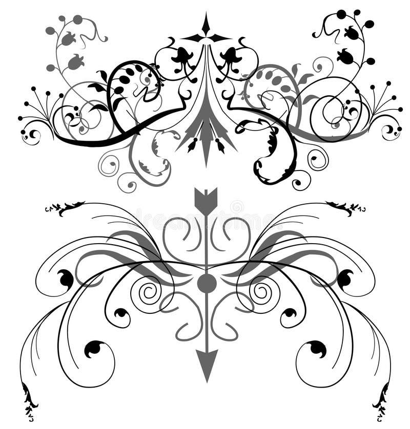 Bloemen ontwerpelementen