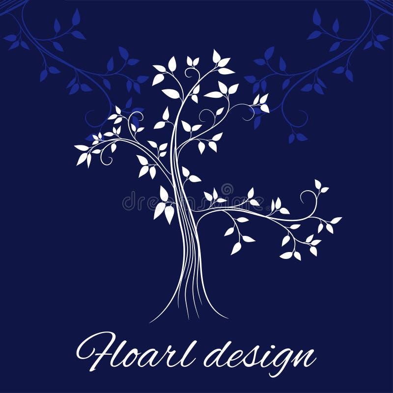 Bloemen ontwerpkaart royalty-vrije illustratie