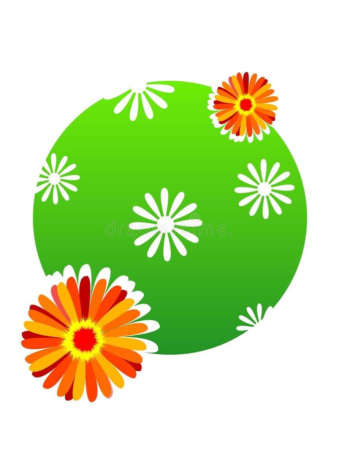 Bloemen op cirkel stock illustratie