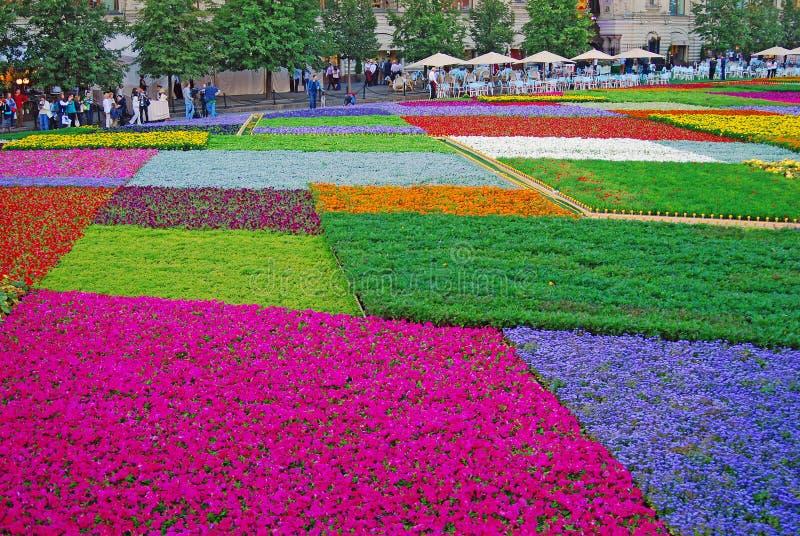 Bloemen op het Rode Vierkant royalty-vrije stock afbeelding