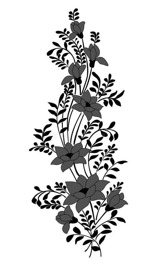 Bloemen ornament stock illustratie
