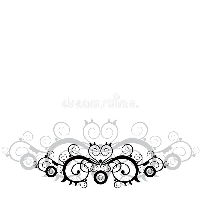 Bloemenornament stock afbeelding