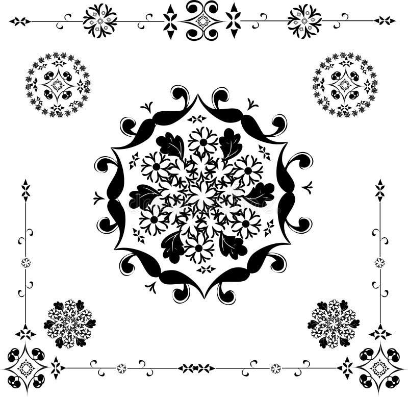 Bloemen ornament - vector vector illustratie