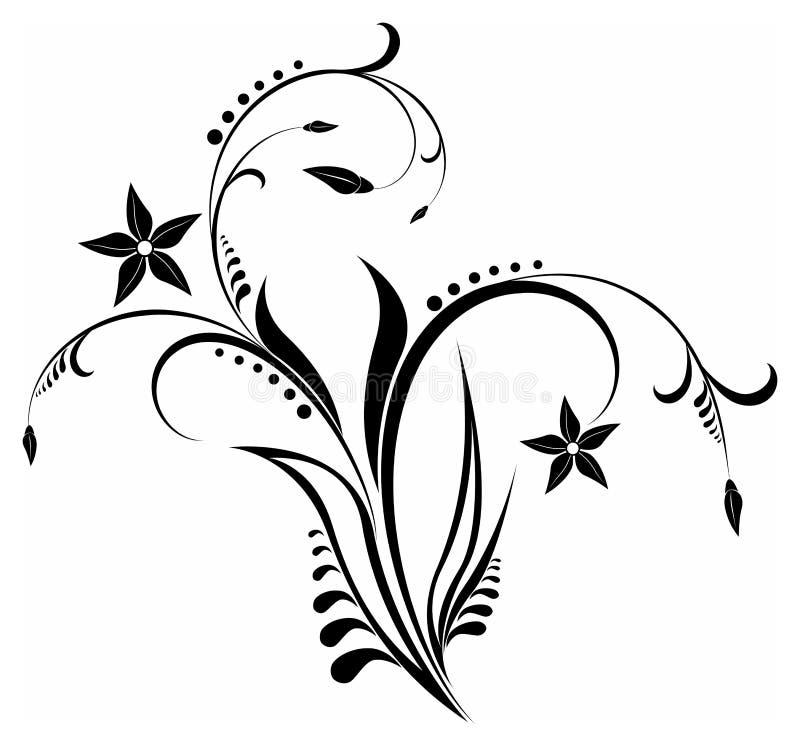 Bloemen ornamenten royalty-vrije illustratie