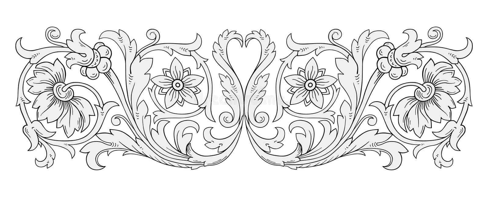 Bloemen ornamentvector stock illustratie