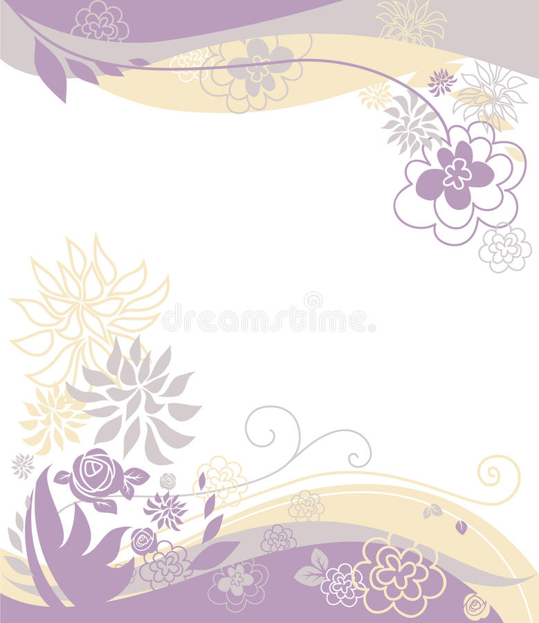 Bloemen pastelkleurachtergrond vector illustratie