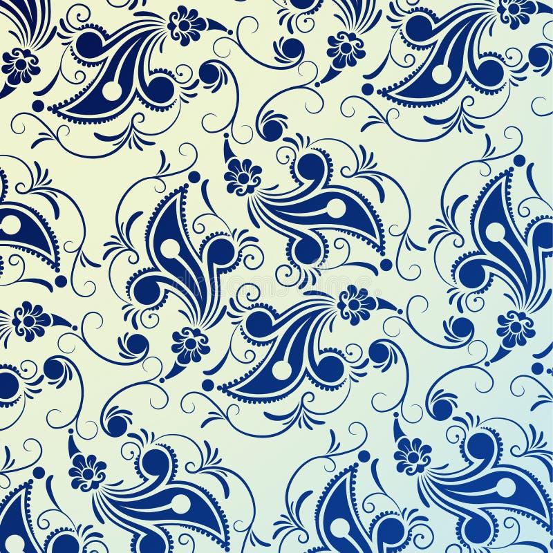 Bloemen patroon royalty-vrije illustratie