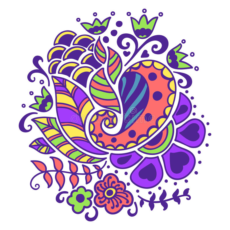 Bloemen patroon stock illustratie