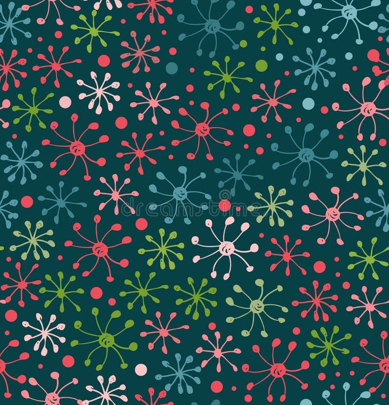 Bloemen patroon Decoratieve abstracte achtergrond Krabbeltextuur Gebied Eindeloos bloemenpatroon vector illustratie