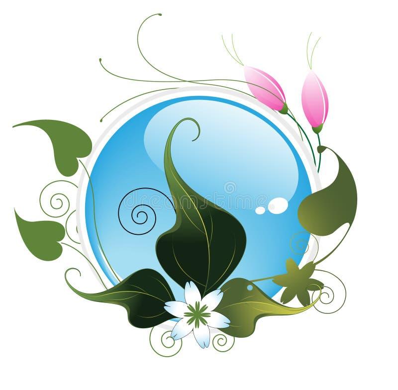 Bloemen patroon met blauwe aquaknoop vector illustratie