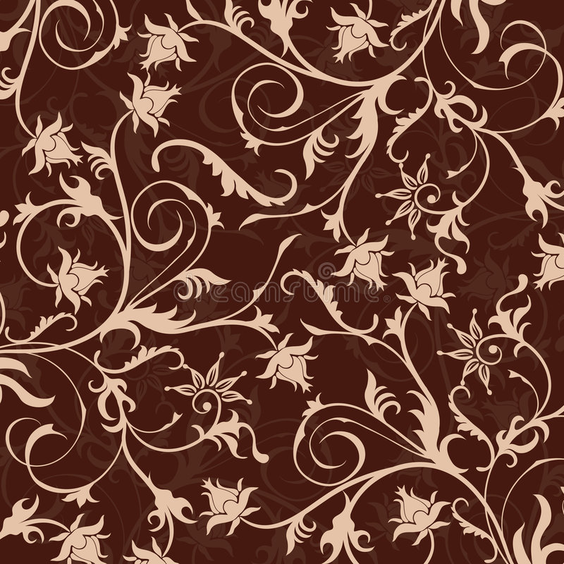 Bloemen patroon, vector royalty-vrije illustratie