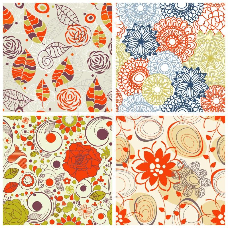 Bloemen patroonreeks vector illustratie