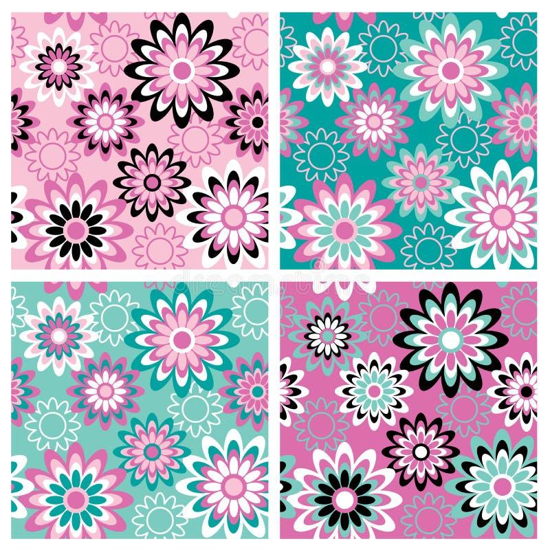 Bloemen Pattern_Summer royalty-vrije illustratie