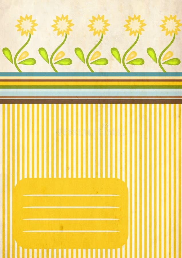 Bloemen plakboekpagina vector illustratie