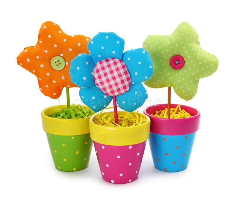 Bloemen in potten royalty-vrije stock afbeelding