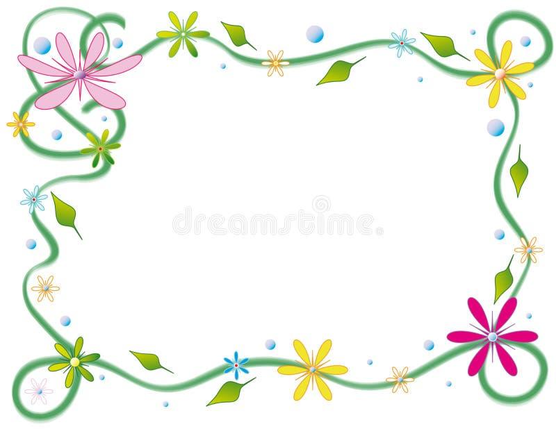 Bloemen prentbriefkaar royalty-vrije illustratie