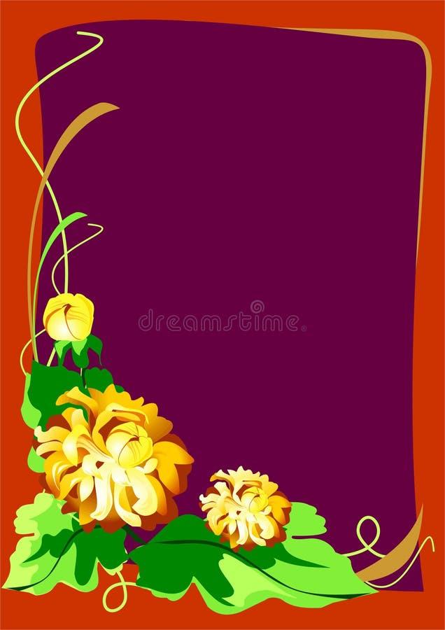Bloemen prentbriefkaarframe stock foto's