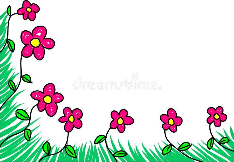 Bloemen rand stock illustratie