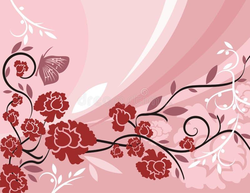 Bloemen Reeks Als achtergrond stock illustratie