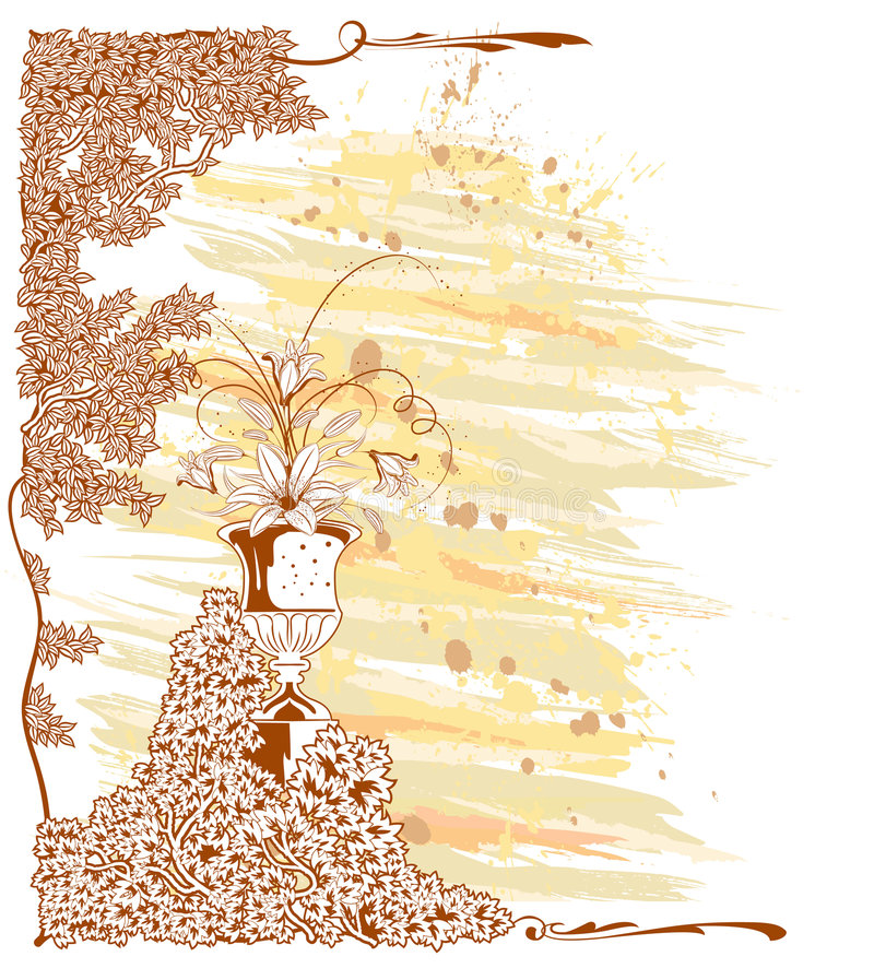 Bloemen retro royalty-vrije illustratie