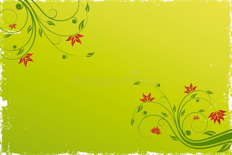 Bloemen rolachtergrond royalty-vrije illustratie