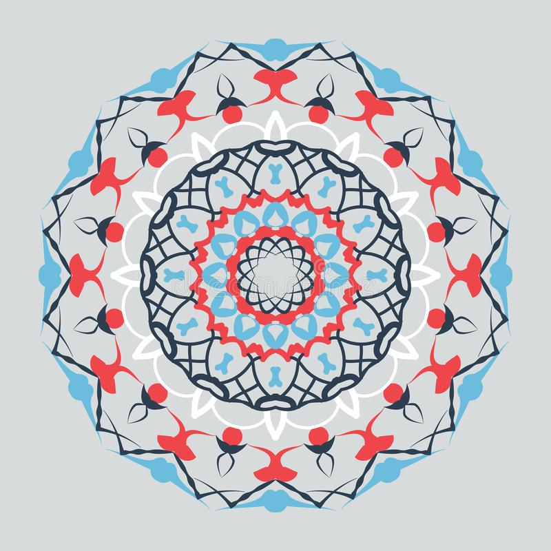 Bloemen rond decoratief symbool Uitstekende decoratieve elementen abstracte achtergrond vector illustratie