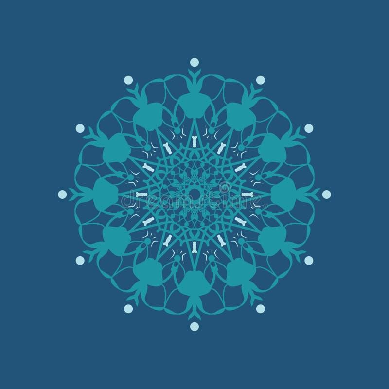 Bloemen rond decoratief symbool Uitstekende decoratieve elementen abstracte achtergrond stock illustratie