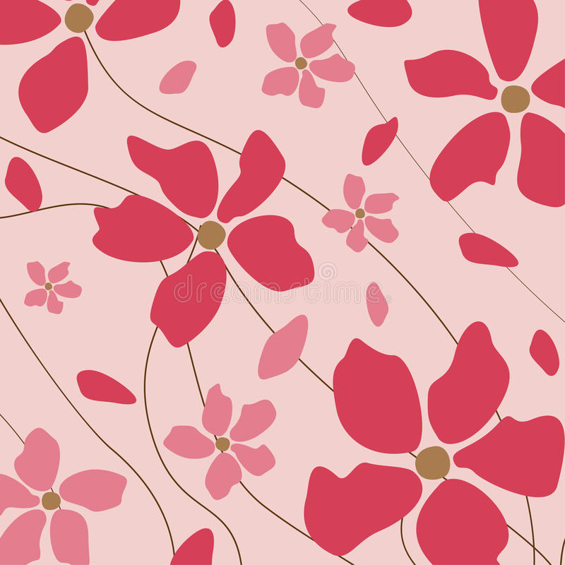 Bloemen roze achtergrond vector illustratie