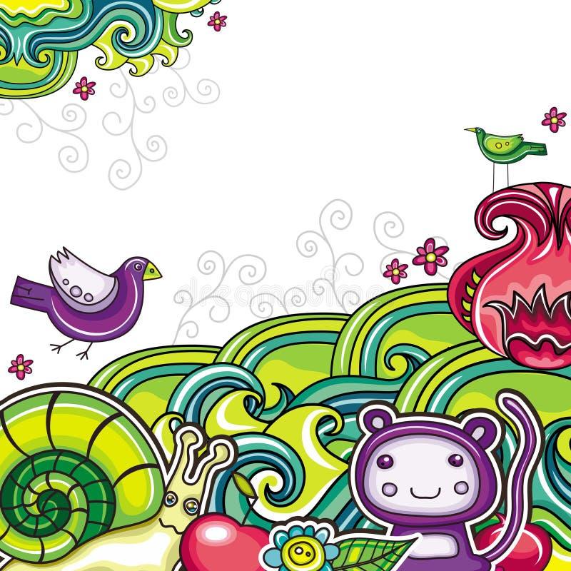 Bloemen samenstelling 10 stock illustratie