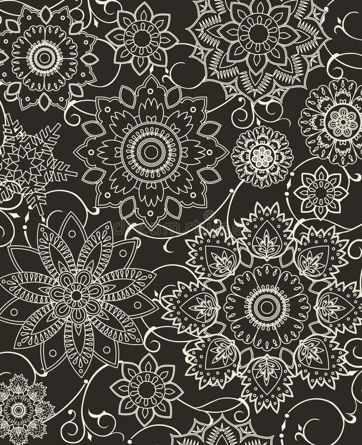Bloemen samenstelling. royalty-vrije illustratie