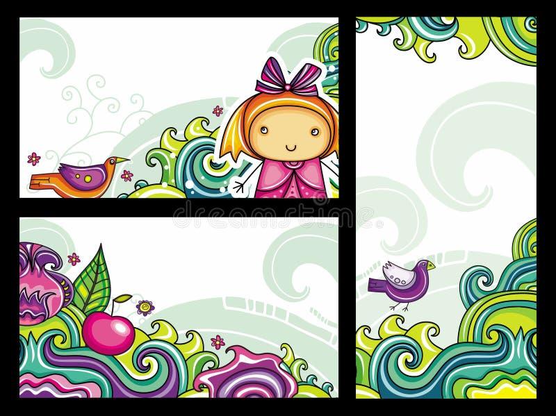 Bloemen samenstellingen 3 royalty-vrije illustratie
