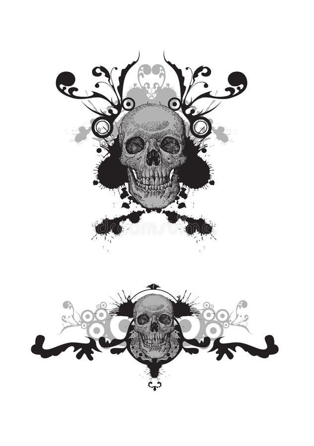 Bloemen schedel stock illustratie