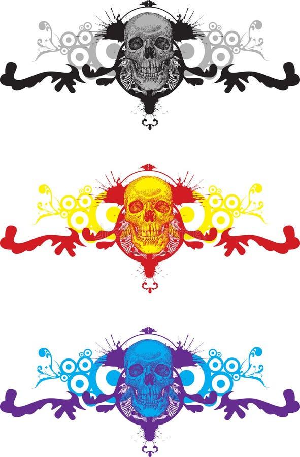 Bloemen schedel vector illustratie