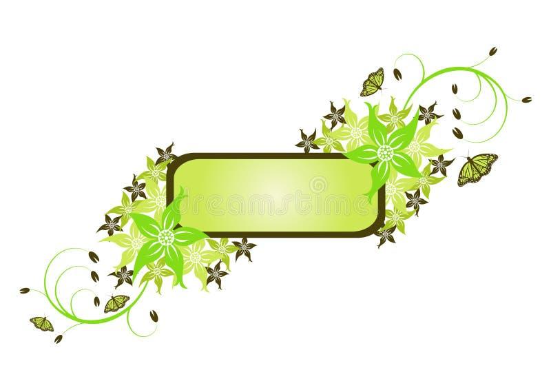 Bloemen shields_02 vector illustratie